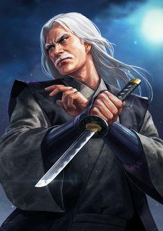 One of three Iga ninja leaders) Fantasy Inspiration, Character Inspiration, Fantasy Characters, Female Characters, Character Concept, Character Art, Kabuto Samurai, Samurai Artwork, Sengoku Basara