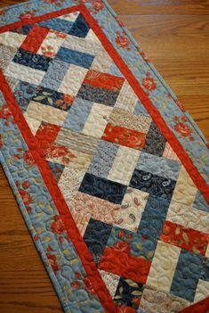 make a table runner quilt by GarJo12881