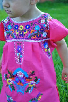 The Emily Mexican Infant Toddler Embroidered Dress by Kees & Me... http://www.facebook.com/keesandme