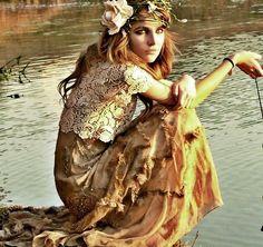 Flowers in her hair.  Runaway Bride by Nadja Seale | #hippie  #bohemian #gypsy #boho
