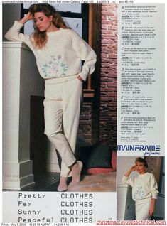 1988 Sears Fall Winter Catalog, Page 123 - Christmas Catalogs Holiday Wishbooks Knee Highs, Christmas Catalogs, Vintage Sewing, Retro Fashion, 1980s, Nice Dresses, Fall Winter, 80s Pop, Normcore