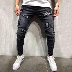 Mens Stretch Denim  Jeans Slim Fit Ripped Jeans, Outfit Man, Hip Hop, Best Jeans, Denim Pants, Trousers, Jeans Brands, Stretch Denim, Mens Fashion