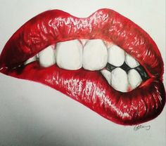 Lip drawing using Prismacolor pencils! #art #drawing