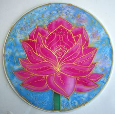 mandala Pink Lotus lotus art yoga art by HeavenOnEarthSilks