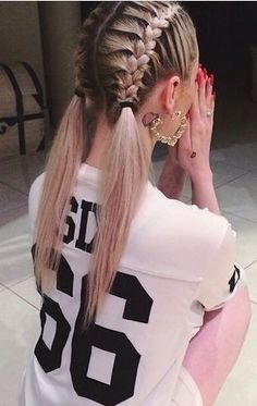 101 Pinterest Braids That Will Save Your Bad Hair Day | Dutch Sister Braid Pigtails