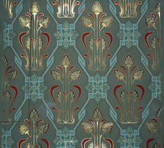 wallpaper design by Christopher Dresser, circa 1864