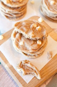 White Chocolate Snickerdoodle Cookies--Oh. My. Lord.