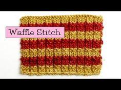 Fancy Stitch Combos - Waffle Stitch