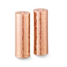Hammered Copper Salt & Pepper Shakers #williamssonoma