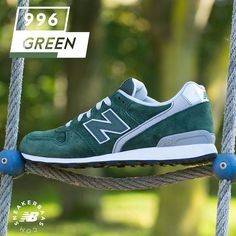 #newbalance #nb996 #newbalance996  New Balance 996 - The simple and slick design of the 996 combines a dark shade of green with grey and white details. Survive the Fall-season with this new banger from New Balance!  Now online available   Priced at 109.99 EU   Wmns Sizes 36 – 42.5 EU