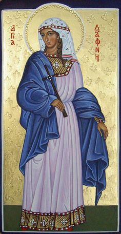 Dymphna by Liesbeth Smulders - May 15 Religious Images, Religious Icons, Religious Art, Byzantine Icons, Byzantine Art, Early Christian, Christian Art, St Dymphna, Russian Icons