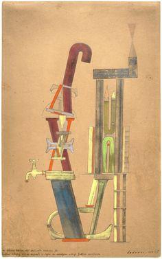 Max Ernst Little Machine Constructed by Minimax Dadamax in Person (Von minimax dadamax selbst konstruiertes maschinchen), 1920