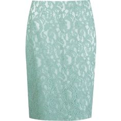Martha Medeiros Marescot Lace Pencil Skirt (16.868.245 IDR) ❤ liked on Polyvore featuring skirts, green, lacy skirt, green skirt, knee length pencil skirt, green lace skirt and lace skirt