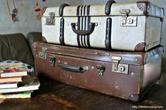 Vintage Luggage as Props ( I will find these Items at a local thrift store or my staging warehouse)