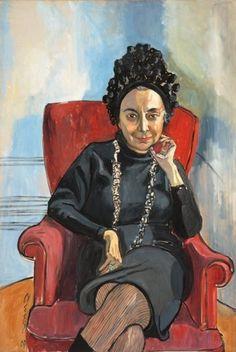 Alice Neel: Portrait of art critic Charlotte Willard (1967)