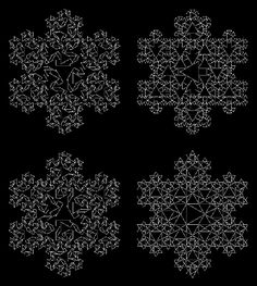 Koch Snowflakes - triangle fractals