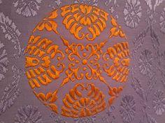 A close up of a pattern on heian era fabrics.