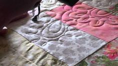 Video of New Edge to Edge Pattern of Free Motion Long Arm Quilting by Lyn Durbin of Camlyn Quilts