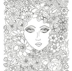 Adult Coloring Book, Printable Coloring Pages, Coloring Pages, Coloring Book for Adults, Instant Download, Faces of the World 2 page 7