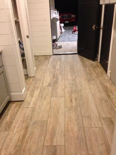 Image Result For Light Wood Look Porcelain Tile Dark Couch
