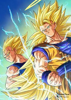 Majin Vegeta and Goku ssj 3