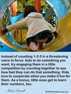 Non-threatening 1-2-3 count explanation.
