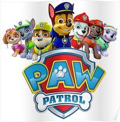 'Paw Patrol' Sticker by Paw Patrol Cartoon, Paw Patrol Characters, Paw Patrol Invitations, Paw Patrol Stickers, Paw Patrol Printable, Escudo Paw Patrol, Imprimibles Paw Patrol, Paw Patrol Party Decorations, Paw Patrol Birthday Theme