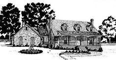 2254 sq. ft. - 4 BR/2 BA, 2 Story, 2 Garage Stalls by Monster House Plans - Plan 18-372