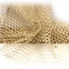 Cream Jute Mesh by RedWithEnvyDesigns on Etsy, $15.50