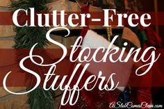 Clutter-Free Christmas Stocking Stuffer Ideas