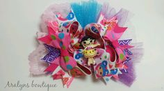 lala loopsy stacked boutique bow over the top  by aralynsbowtique