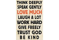 Words Of Wisdom I on OneKingsLane.com