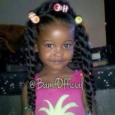 Look at her face and then her hair! There is no reason outside of parental laziness or ignorance that all little black girls don't have length. Beautiful Black Babies, Beautiful Children, Baby Girl Hairstyles, Bun Hairstyles, Curly Hair Styles, Natural Hair Styles, Pelo Afro, My Hairstyle, Pretty Baby