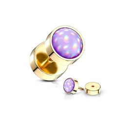 Spikes Coloured fake plug piercing with glimmer coloured stone front – Gold – Purple Fake Piercing, Piercings, Fake Plugs, Labret Studs, Silver Nose Ring, Shops, Purple Gold, Diamond Shapes, Round Beads