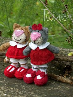 Olga, the Kitty, knitted Cat (in English) Crochet Amigurumi, Knit Or Crochet, Amigurumi Patterns, Crochet Baby, Knitting Patterns, Crochet Patterns, Knitted Cat, Knitted Animals, Knitted Dolls