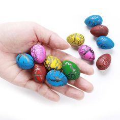 Totem World Dinosaur Grow Eggs 60 Pack Assorted Color Hatch Eggs for Easter Egg Hunt Diy Aquarium Toys, Hatch Eggs, Mini Binder, Dinosaur Eggs, Easter Season, Egg Hunt, Goodie Bags, Egg Shells