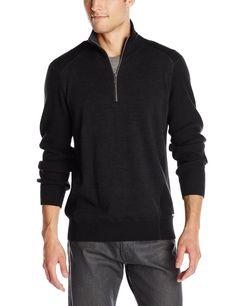 Calvin Klein Men's Waffle-Knit Half-Zip Sweater, Small #CalvinKlein #14ZipPullover