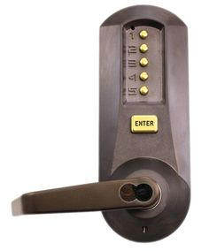 Kaba Simplex 5021BWL-744-41 Mechanical Pushbutton Lever Lock W/ SFIC Prep
