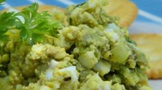 Avocado makes a smooth, rich dressing for a lighter version of egg salad that doesn't contain mayonnaise.