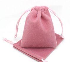 Velvet jewelry drawstring gift bag storage pouches