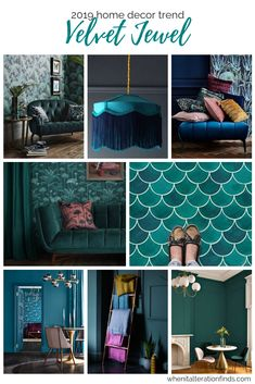 Home Decor Trends - Tropical Velvet Jewel, Emerald and teal luxury decor ideas | When It Alteration Finds