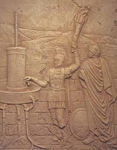 Greek Hydraulic Telegraph of Aeneas relief - Hydraulic telegraph - Wikipedia
