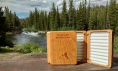 STONEFLY STUDIO'S YELLOWSTONE RIVER MAP FLY BOX - Cook City Park Entrance Area