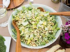 Get this all-star, easy-to-follow Avocado and Grilled Corn Salad with Green Goddess Dressing recipe from Valerie's Home Cooking