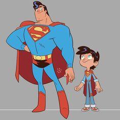 Details on the Superman Family Cartoon That We Never Got Superman Art, Superman Family, Superman Stuff, Batman, Dc Comics Superheroes, Dc Comics Art, Cartoon Styles, Cartoon Art, Comic Books Art