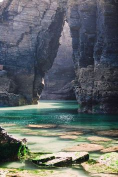 As Catedrais beach (Beach of the Cathedrals/Beach of the Holy Waters), Lugo, Galicia, Spain