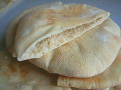 Homemade pita pocket bread