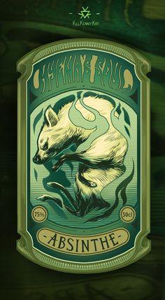 """Absinthe's Garden: """"Hyena's Soul #Absinthe,"""" by KillKennyKat, at deviantART."""