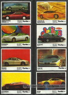 Merveilleux Turbo 191 260 | My Bubble Gum Inserts Collection