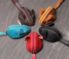 Leather Key, Leather Wallet, Cute Coin Purse, Animal Bag, Change Purse, Kids Bags, Cute Bags, Creations, Crossbody Bag